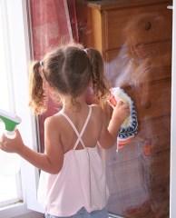 Utilisez du vinaigre blanc pour le nettoyage des vitres
