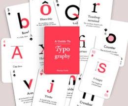juego cartas tipográficas