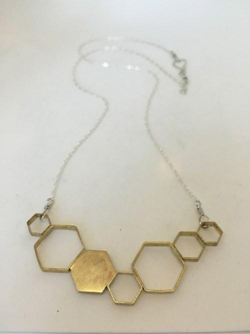 DNA Hexagon Necklace