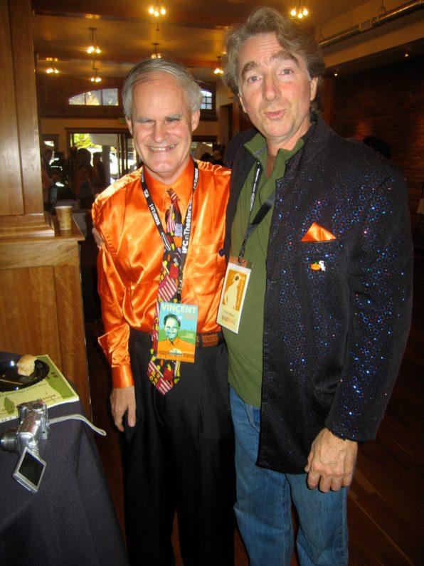 Vincent and filmmaker Kevin Tomlinson.