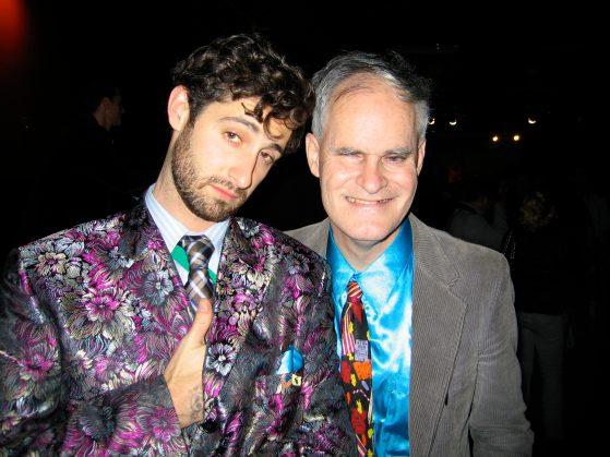 Trading coats with Jonathan Guggenheim.