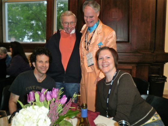 Vincent and Jennifer with Roger Ebert and Charlie Kaufman.