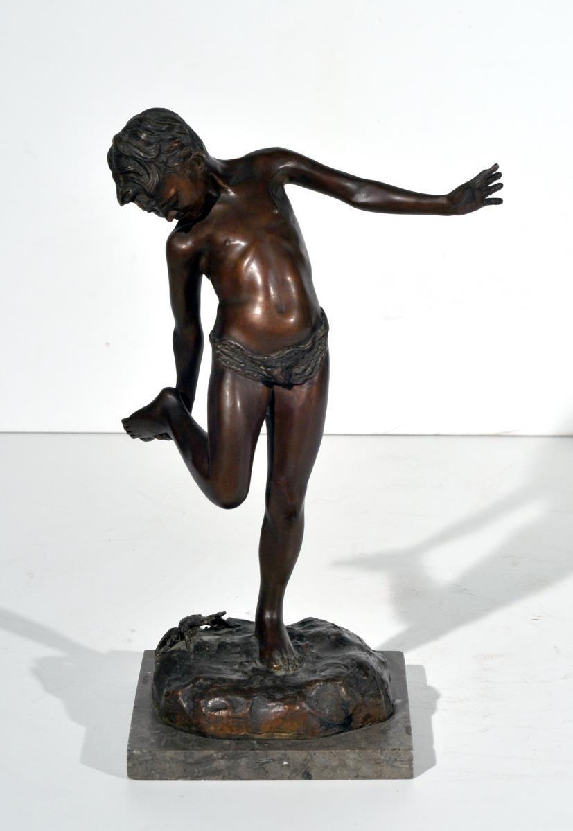 De Lotto Annibale San Vito di Cadore Belluno 1877  Venezia 1932 Il granchio scultura in
