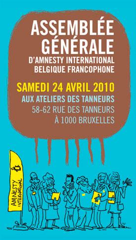 Affiche et dessin pour l'assemblée générale de Amnesty international Belgique francophone.