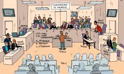 Dessin du tribunal des assises
