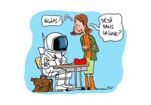 Ecolier en cosmonaute