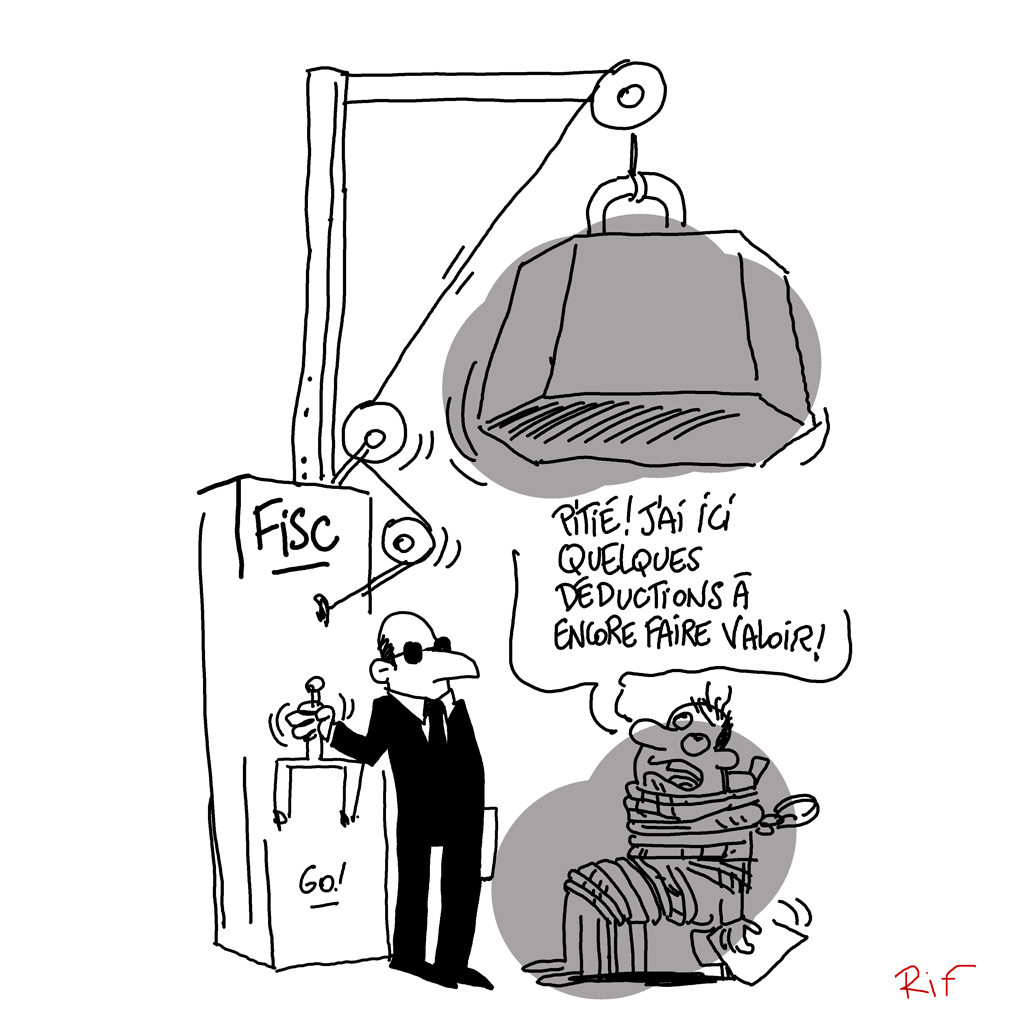 Cartoon sur les déductions fiscales