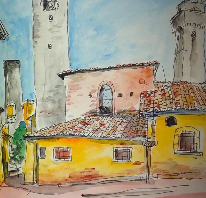 Extrait de mon carnet de voyage en Toscane. 2013.