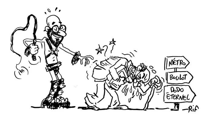 Cartoon sur les pré-pensionnés