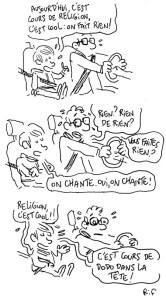 Le cours de religion vu par...