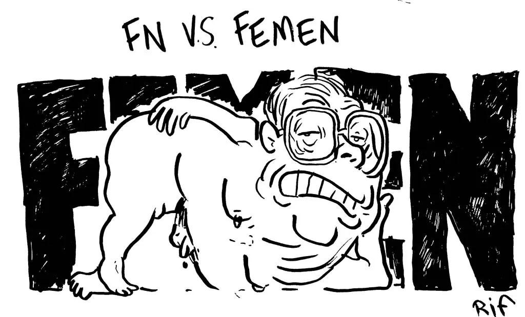 Jean-Marie Lepen et les FEMEN