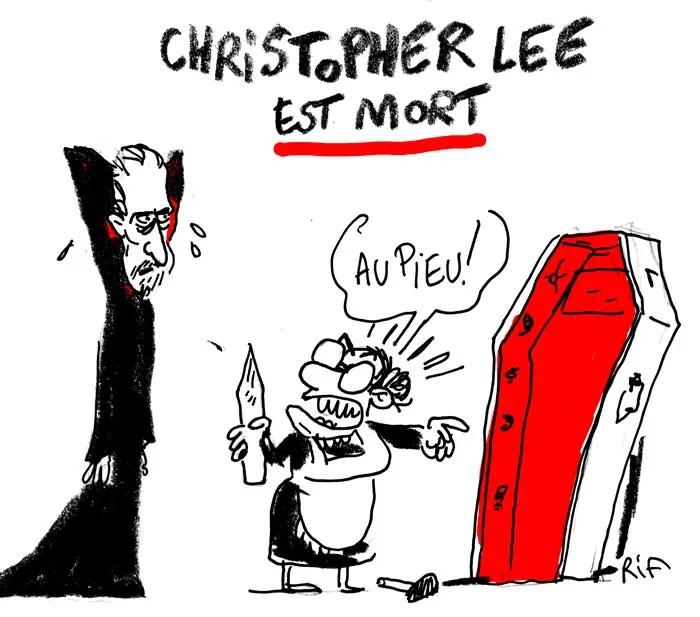 Dessin de presse sur la mort de Christopher Lee