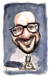Caricature de Charles Michel