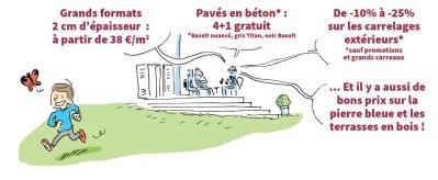 illustration pour dépliant Portes ouvertes Dominique Buyse
