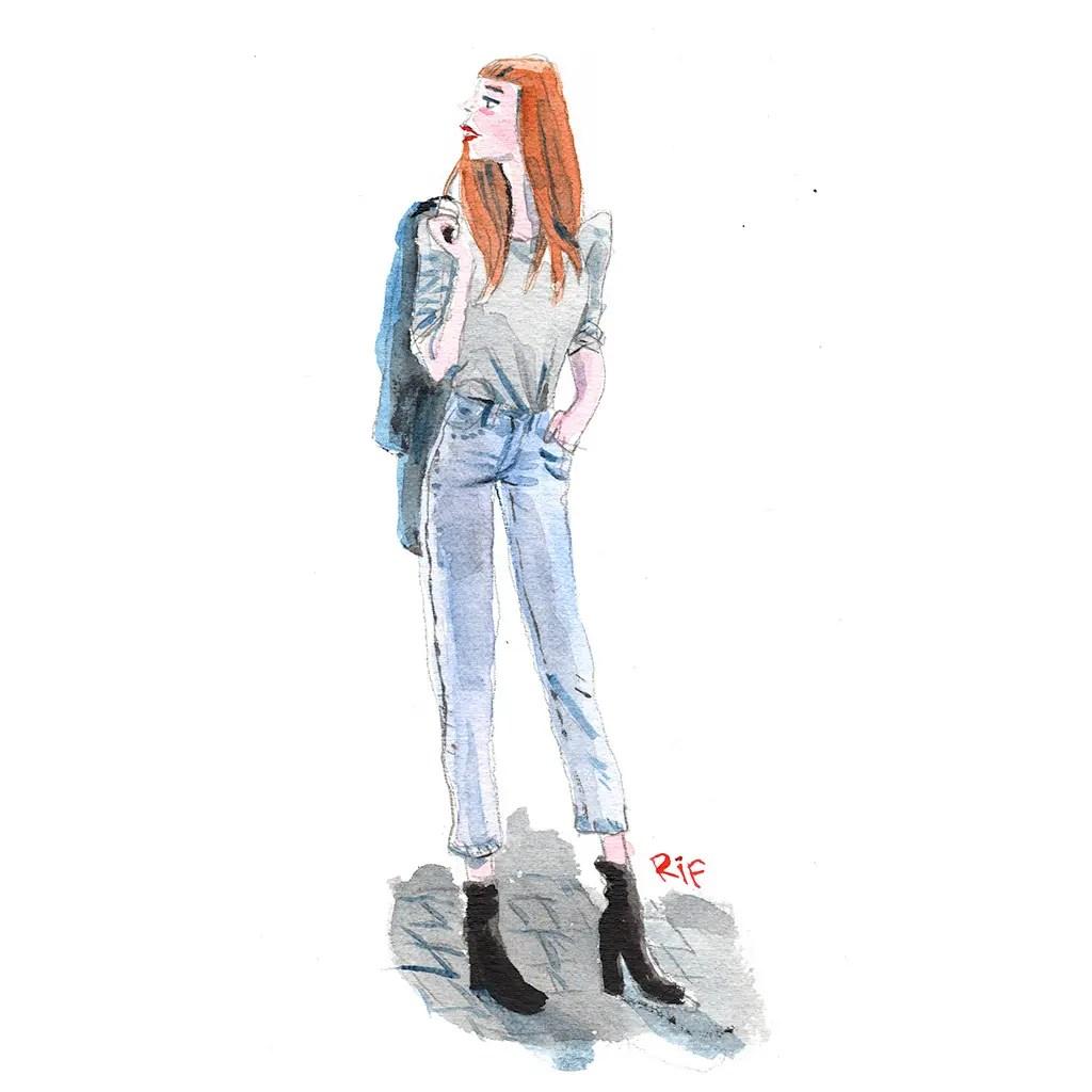 jeanne - aquarelle