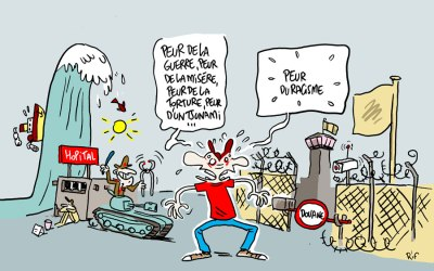 Les migrants – illustrations pour la Croix-rouge de Belgique