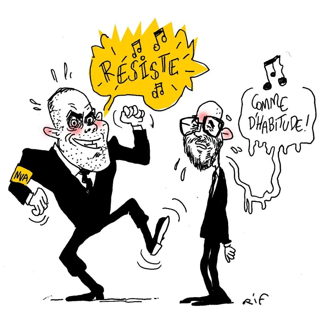 Theo Francken et Charles Michel