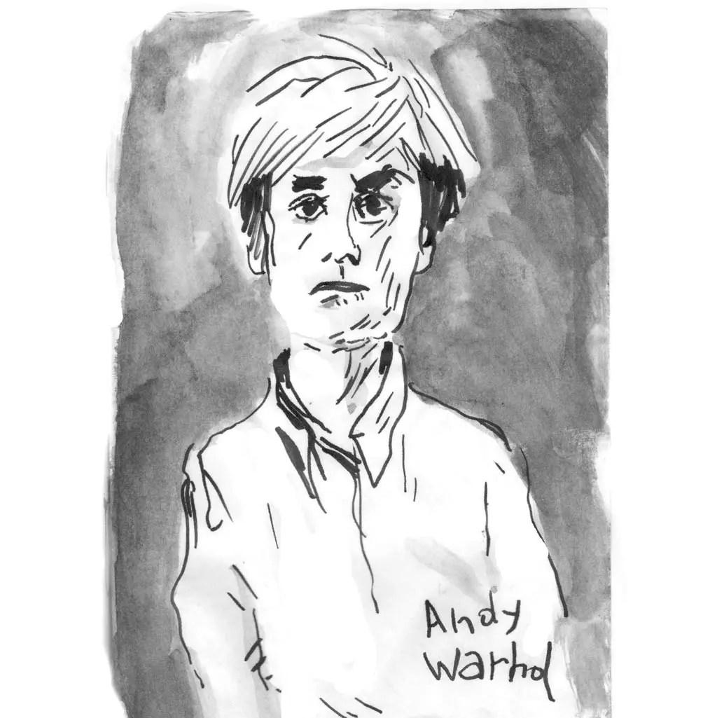 Andy Warhold'après une photo de Marc Trvier