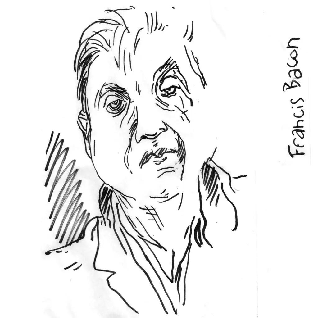 Francis Bacon d'après une photo de Marc Trvier