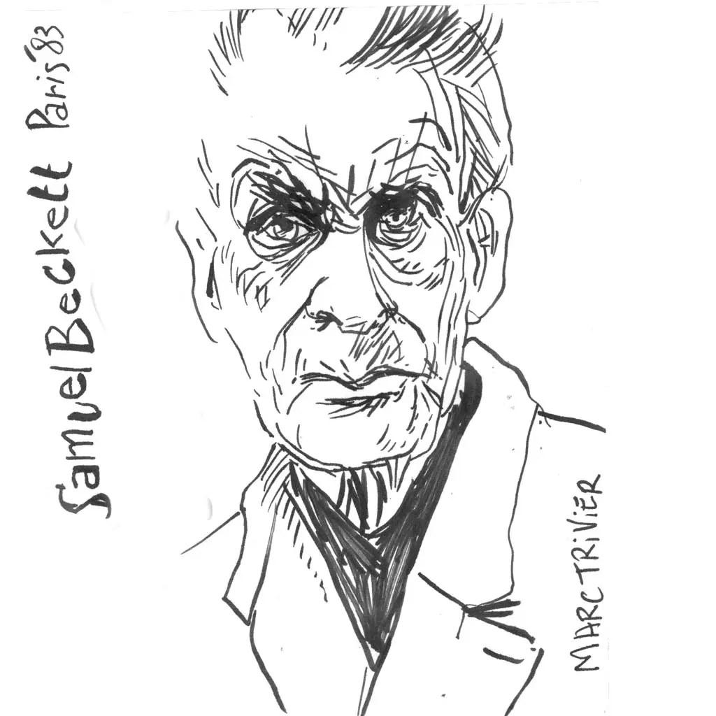 Samuel Beckett d'après une photo de Marc Trvier