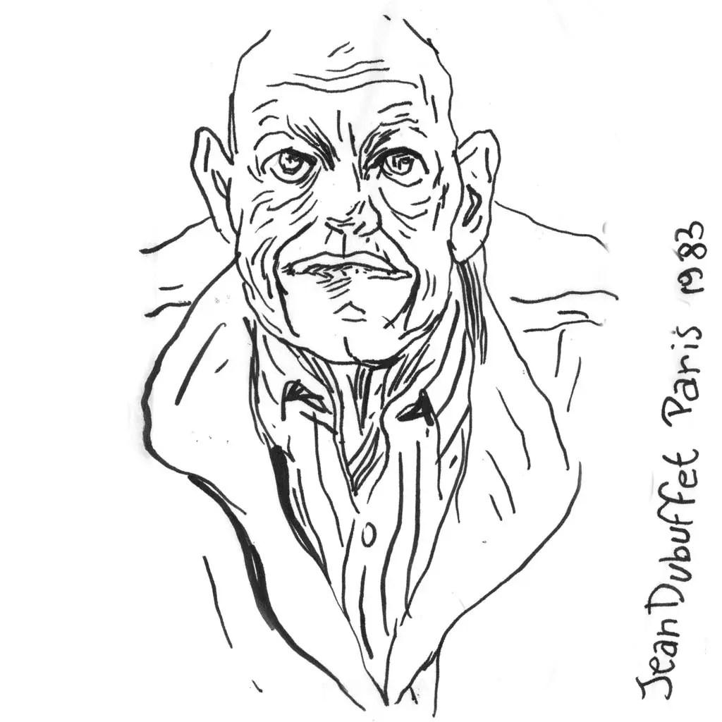 Jean Dubuffet d'après une photo de Marc Trivier