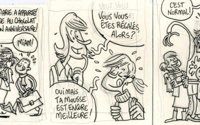 Crayonné d'un strip pour Averbode