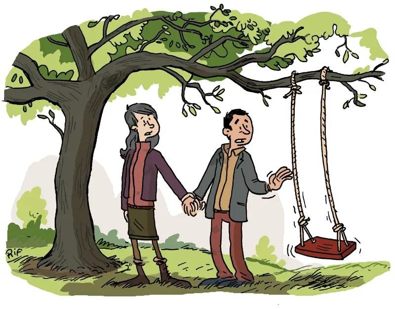 Illustration pour un article consacré à ces parents qui ont perdu un enfant.