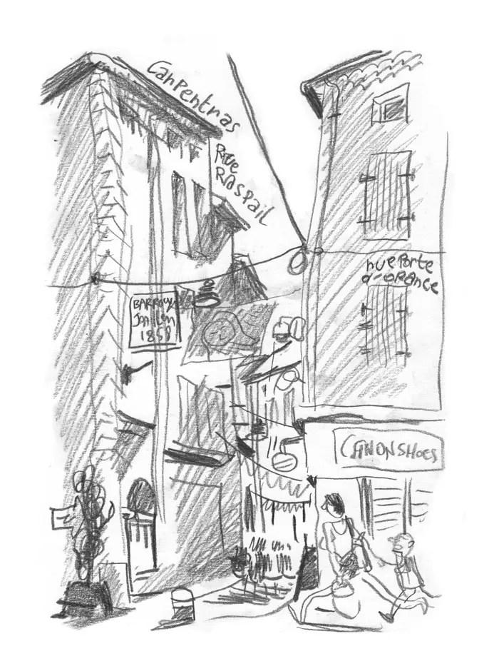 Rue Raspail. Carpentras.