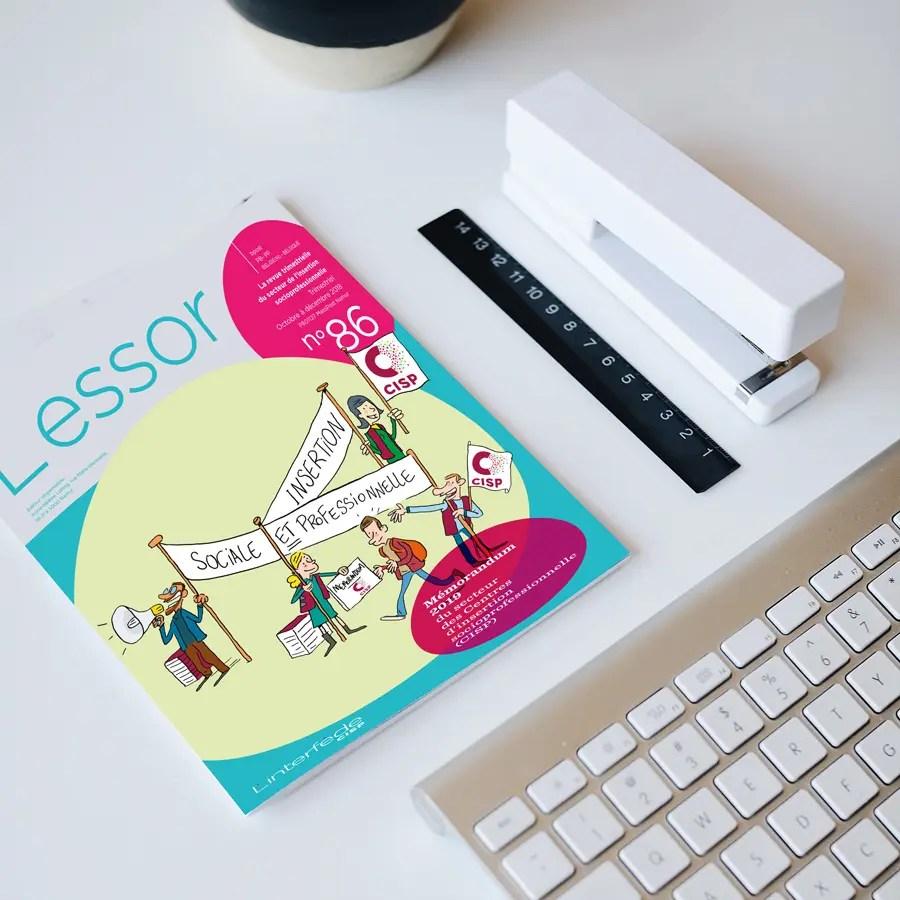 Couverture du magazine l'Essor avec le dessin d'introduction