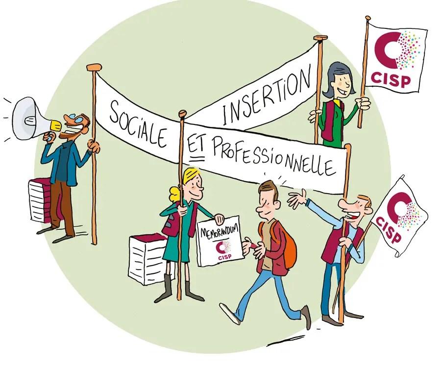 Illustration pour le Mémorandum 2019 du secteur des Centres d'insertion socioprofessionnelle