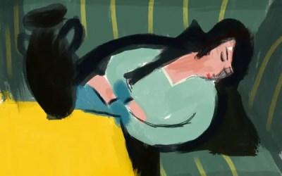 """""""Femme dormant au vase noir"""" de Robert Berény"""