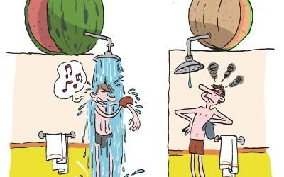 Y-a-t-il plus d'eau dans une pastèque ou un melon ?