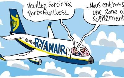 Ryanair et ses zones troubles de suppléments