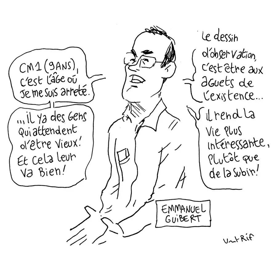 Croquis de Emmanuel Guibert