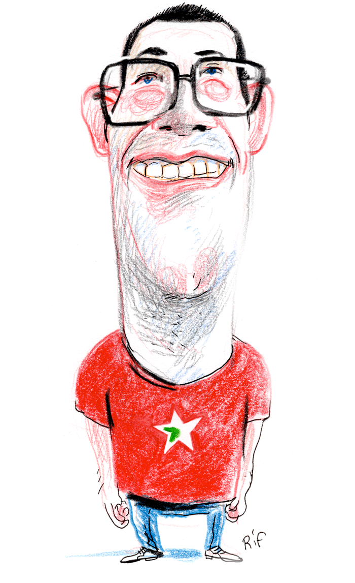 Raoul Hedebouw caricature