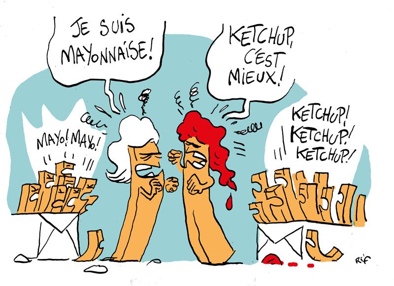 Ketchup ou mayonnaise ?