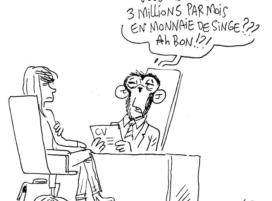 Payer en monnaie de singe