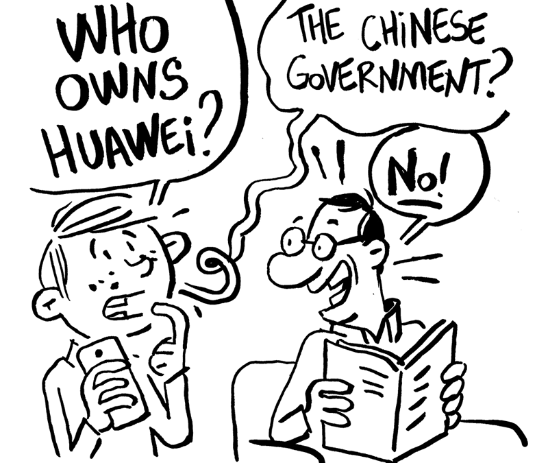 Who owns Huawei ?