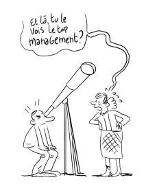 top management -dessin de réunion