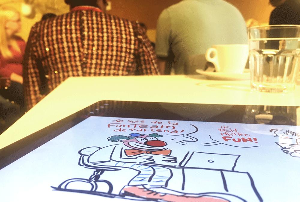 Résumé dessiné et humoristique de réunion