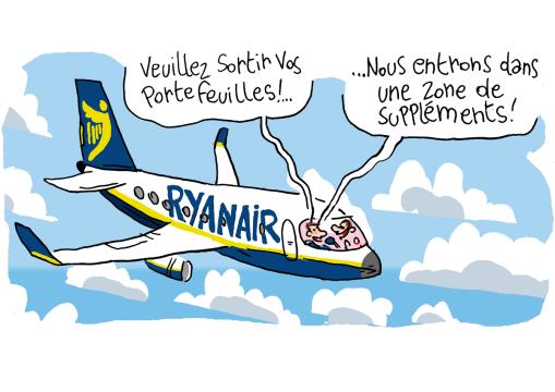 Les suppléments de Ryanair