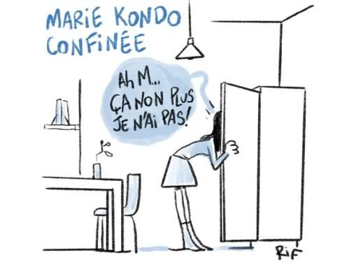 Marie Kondo confinée