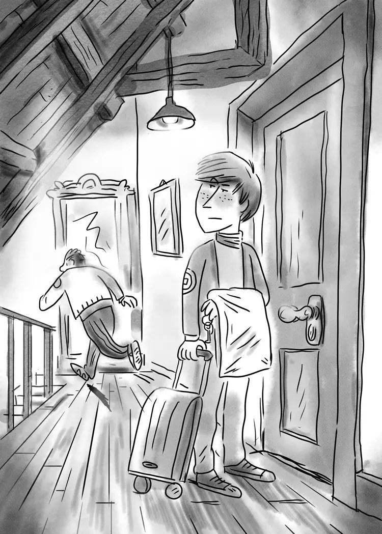 illustration du livre Le fantome de l'internat par Vincent Rif