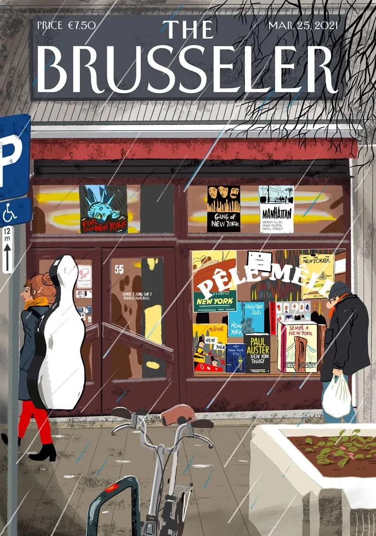 the Brusseler - image de couverture d'une revue fictive en hommage au New Yorker par Vincent Rif - Pele-mele de bruxelles