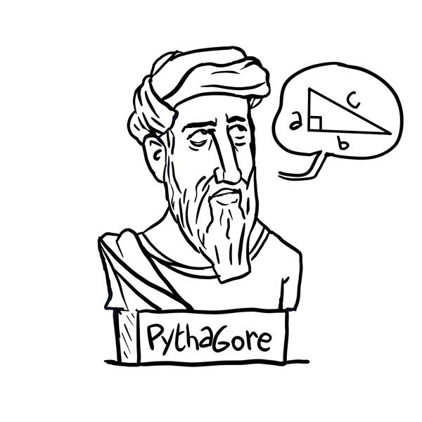 Portrait du philosophe Pythagore
