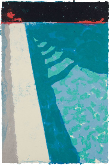 Steps with Shadow F (Paper Pool 2), 1978 David Hockney