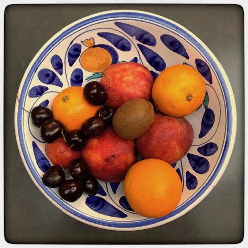 Fruits en lumière chaude