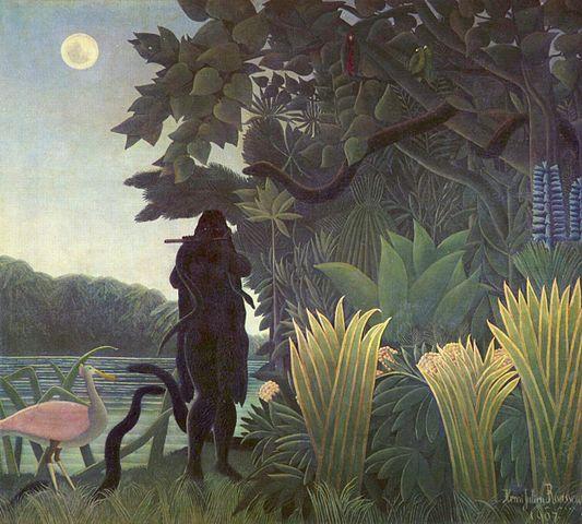 """La Douanier Rousseau, """" La charmeuse de Serpents """" (1907)"""