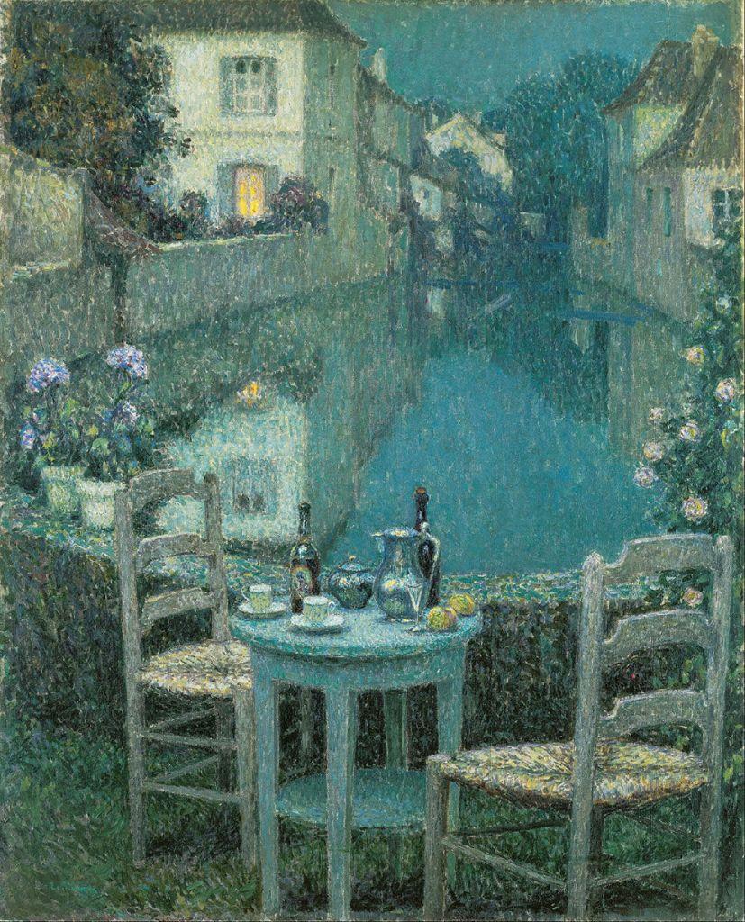 Le Sidaner, Petite table dans le crépuscule du soir (1921)