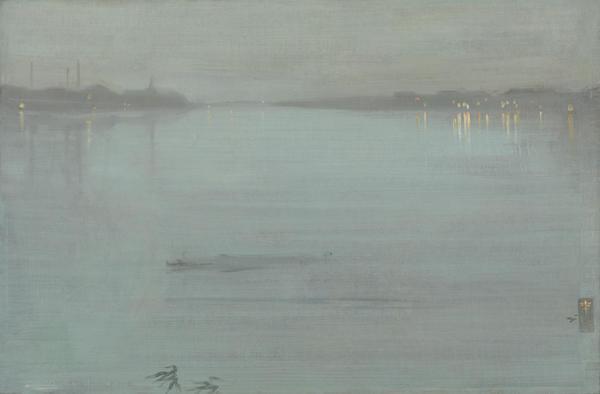 James Whistler, Nocturne en bleu et argent- lumières de Cremorne (1872 )